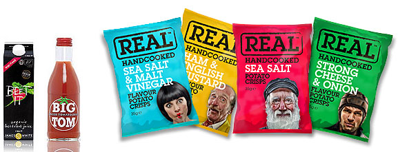 Beet-it, Big Tom, Real Crisps